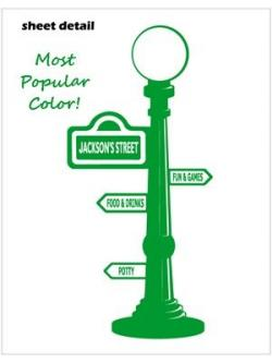 Sesame Street clipart light pole