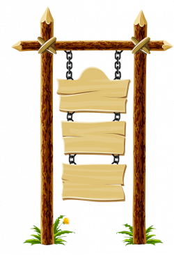 Lamp Post clipart wooden placard