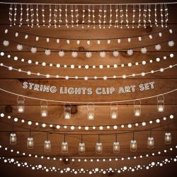 Rustic clipart string light