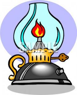 Oil Lamp clipart antique