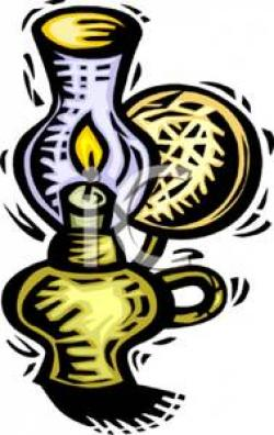 Oil Lamp clipart old fashioned