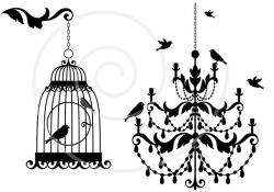 Chandelier clipart shabby chic