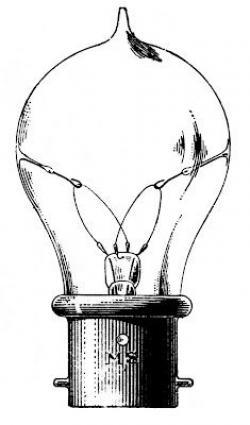 Steampunk clipart light bulb