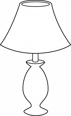 Oil Lamp clipart outline