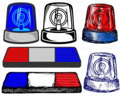 Lamps clipart police