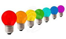 Lamps clipart rainbow colour