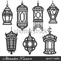 Lamps clipart ramadan