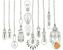 Lights clipart hanging light