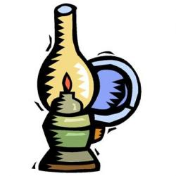 Oil Lamp clipart vintage lamp
