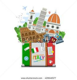 Suitcase clipart italy