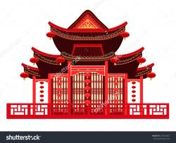 Asians clipart chinese house