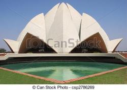 Landmark clipart lotus temple