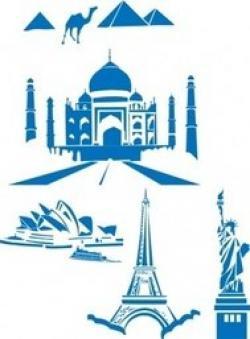 Landmark clipart world tour