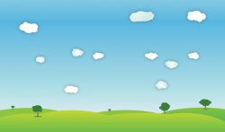 Outdoor clipart spring landscape