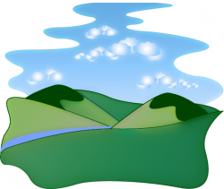 River Landscape clipart mountain scenery