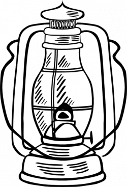 Oil Lamp clipart vintage lantern