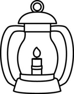 Latern clipart black and white