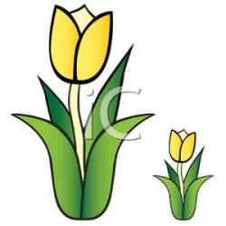 Small clipart yellow tulip