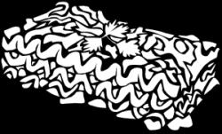 Lasagna clipart black and white