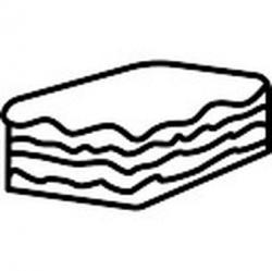 Lasagne clipart black and white