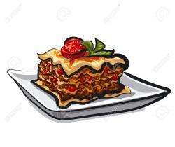 Lasagna clipart cartoon