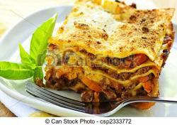 Lasagne clipart plate