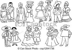 Traditional Costume clipart argentina