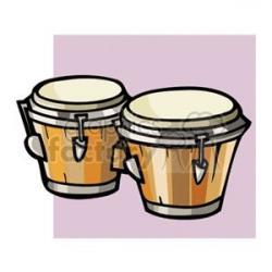 Latin clipart bongo drums