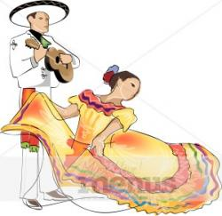 Traditional Costume clipart mexican dancer