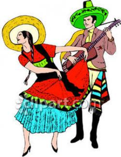 Latin clipart mexican dancer