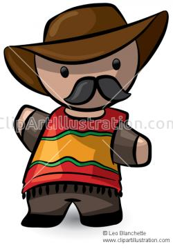 Latin clipart mexican poncho