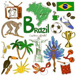 South America clipart brazil