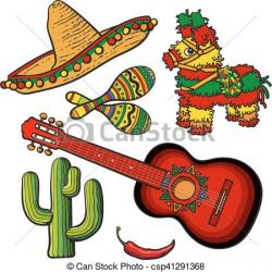 Spanish clipart mexican guitar