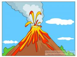 Geography clipart volcano