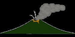 Lava clipart gunung