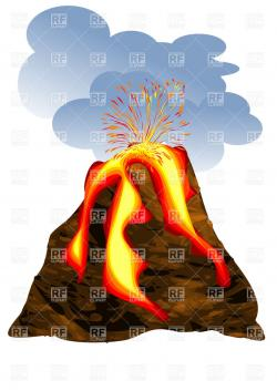 Lava clipart volcanic eruption