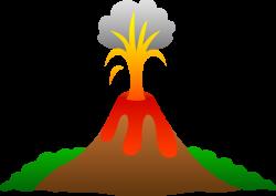 Lava clipart volcano island