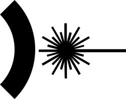 Laser clipart logo vector