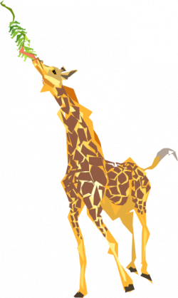 Leaves clipart giraffe