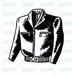 Leather clipart black jacket