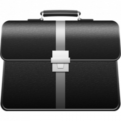 Leather clipart brief case