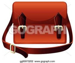 Leather clipart brown bag