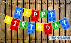 Lego clipart birthday banner