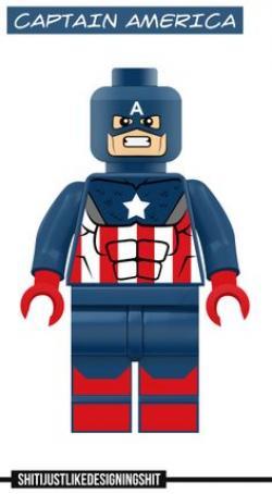 Lego clipart captain america