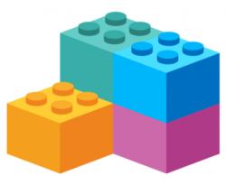 Lego clipart purple