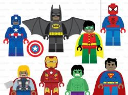 Lego clipart super hero
