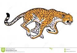 Leopard clipart run