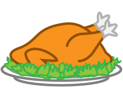 Plate clipart turkey dinner