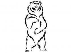 Drawn grizzly bear standing bear