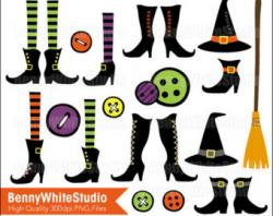 Legz clipart witch shoe